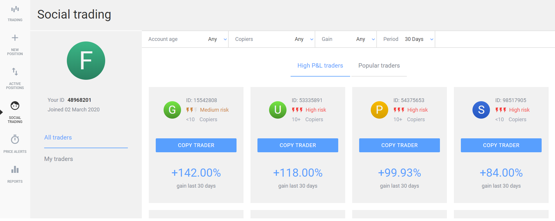 500Investments Social Trading