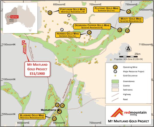 Mt Maitland Project map