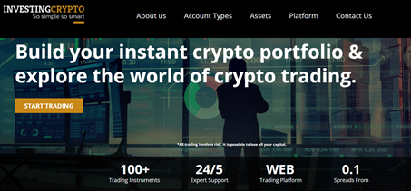 InvestingCrypto CFD broker